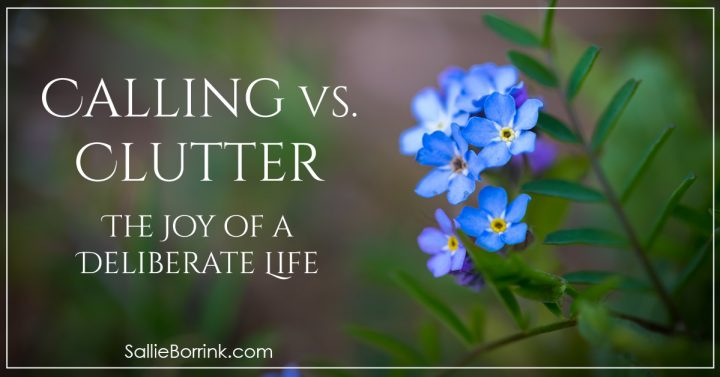 Calling vs. Clutter - The Joy of a Deliberate Life 2