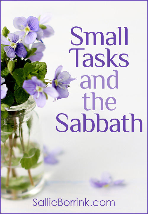 Small Tasks and the Sabbath