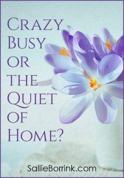 Crazy Busy or the Quiet of Home?