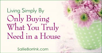 Living Simply By Only Buying What You Truly Need in a House 2