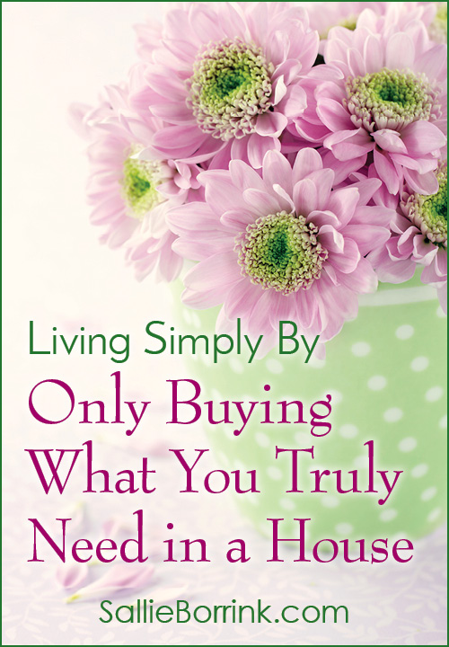 Living Simply By Only Buying What You Truly Need in a House