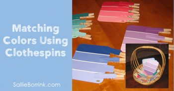 Matching Colors Using Clothespins 2