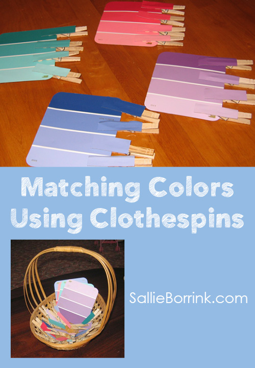 Matching Colors Using Clothespins