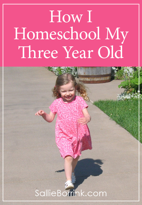 How I Homeschool My Three Year Old