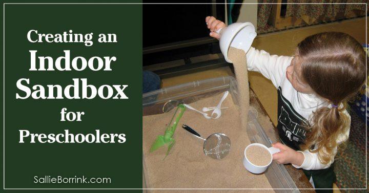 Creating an indoor sandbox for preschoolers 2