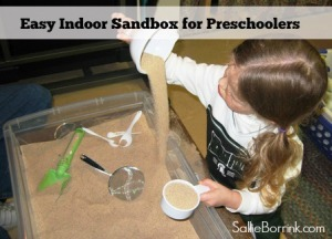 Easy Indoor Sandbox for Preschoolers