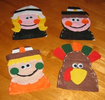 Finished Thanksgiving Puppets