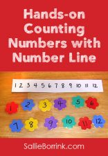Hands-on Counting Numbers with Number Line