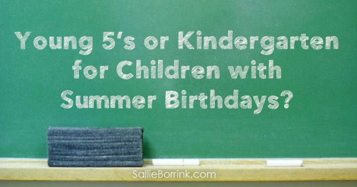 Young 5's or Kindergarten for Children with Summer Birthdays 2