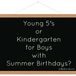Young 5's or Kindergarten