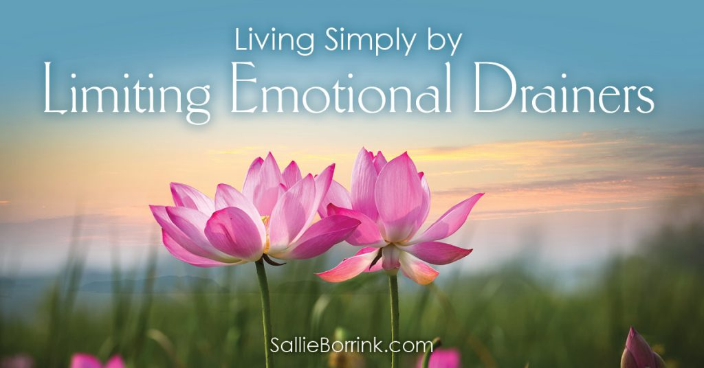 Living Simply by Limiting Emotional Drainers 2