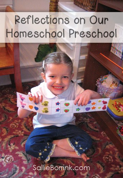 Reflections on Our Practice Homeschool Preschool