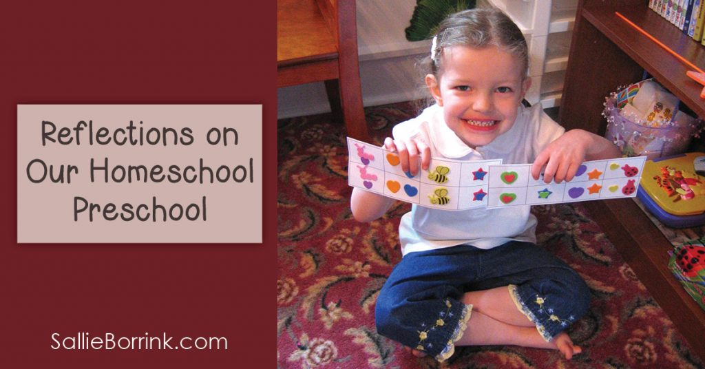 Reflections on Our Practice Homeschool Preschool 2