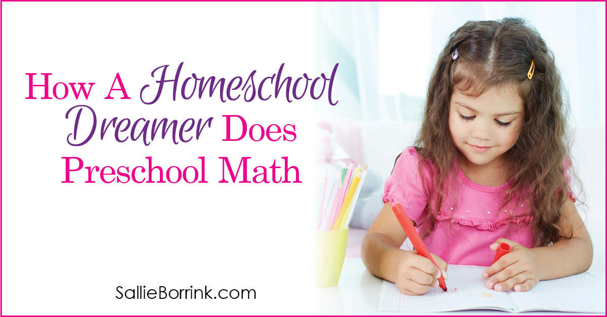 How a Homeschool Dreamer Does Preschool Math 2