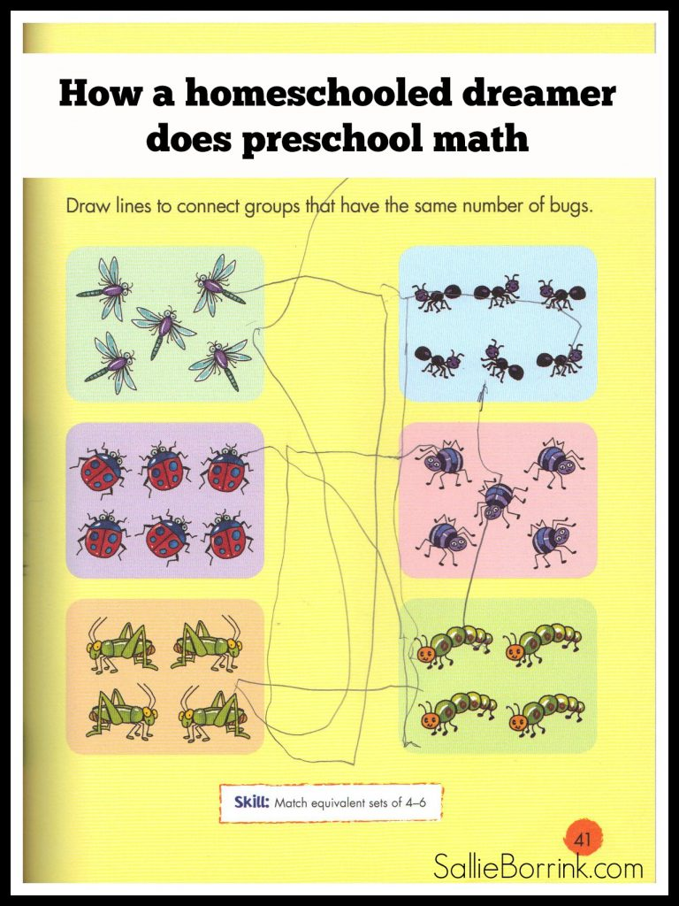 How a homeschooled dreamer does preschool math