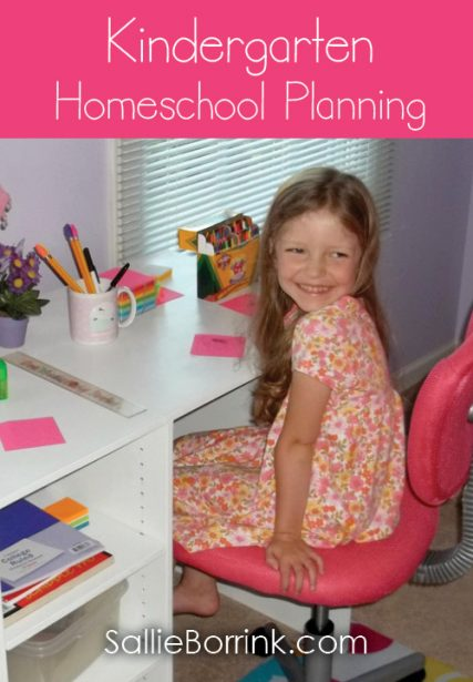 Kindergarten Homeschool Planning
