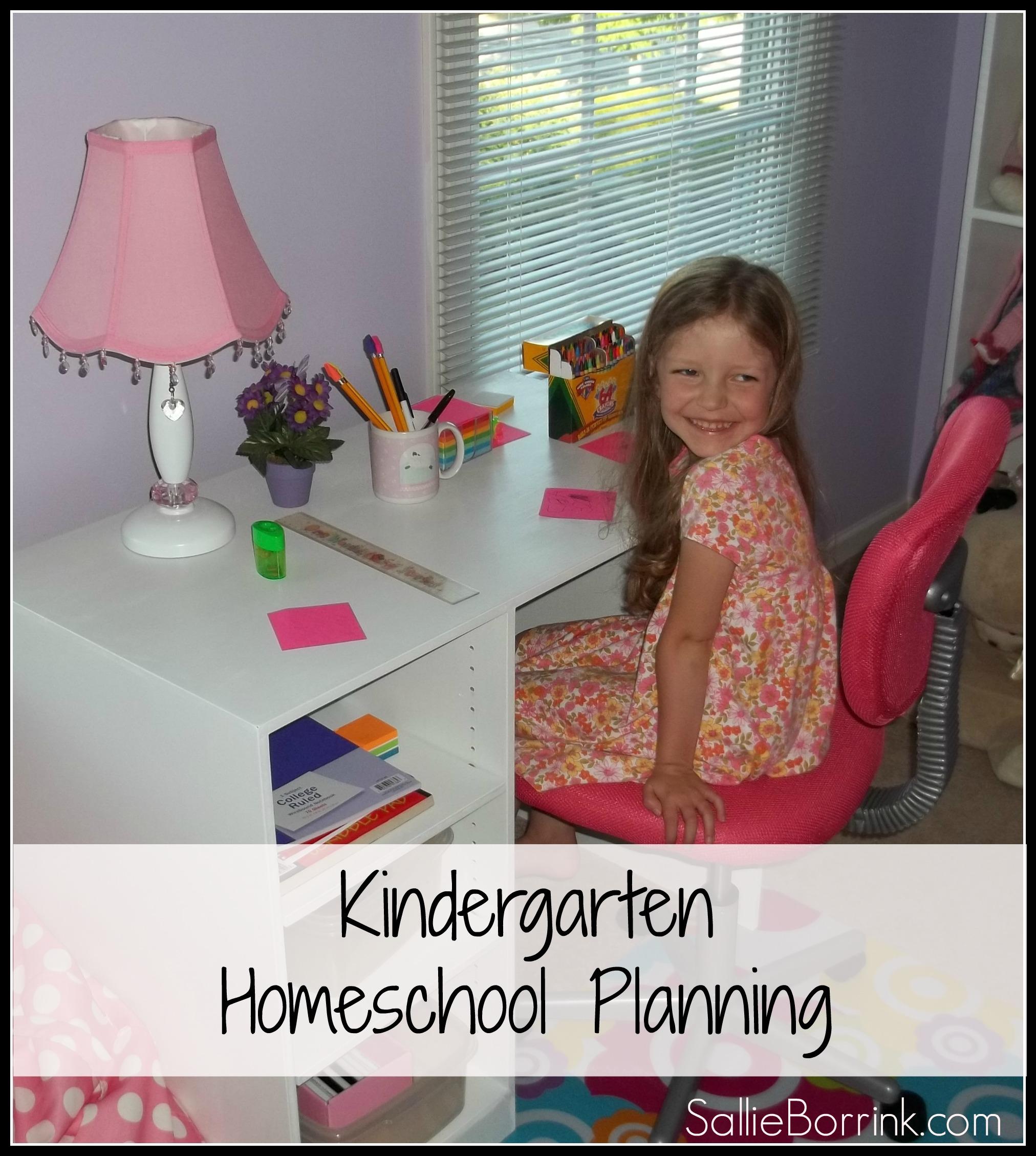 Kindergarten Homeschool Planning