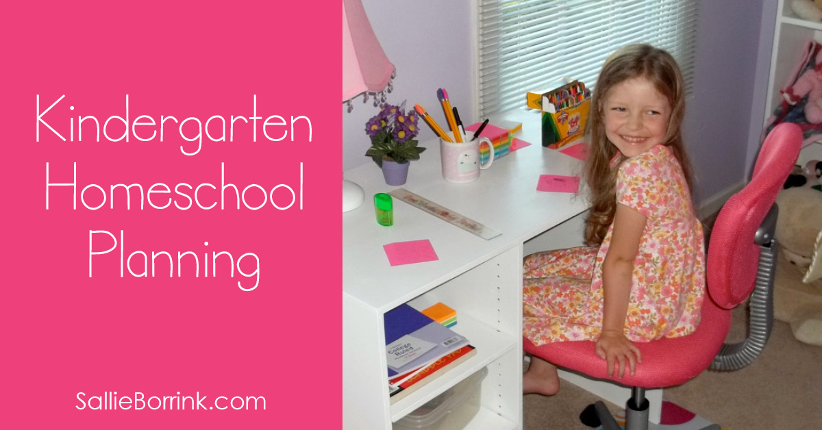 Kindergarten Homeschool Planning 2