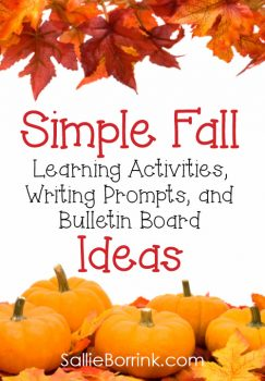 Simple Fall Learning Activities, Writing Prompts, and Bulletin Boards Ideas