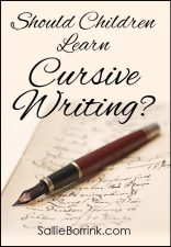 Should children learn cursive writing?