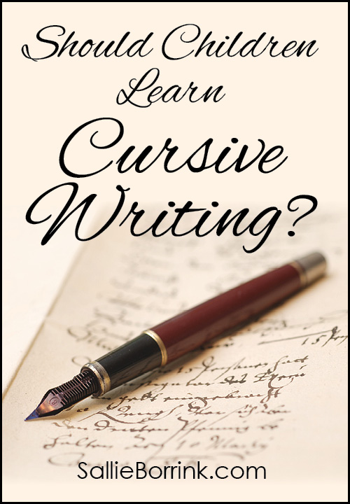 Should children learn cursive writing