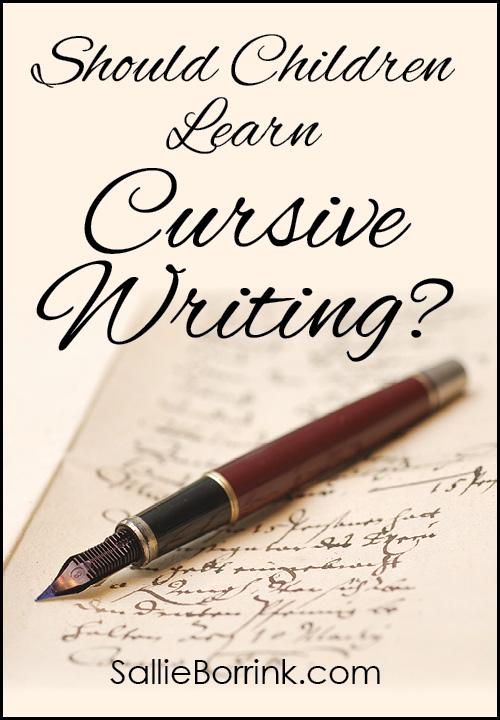 Should children learn cursive writing