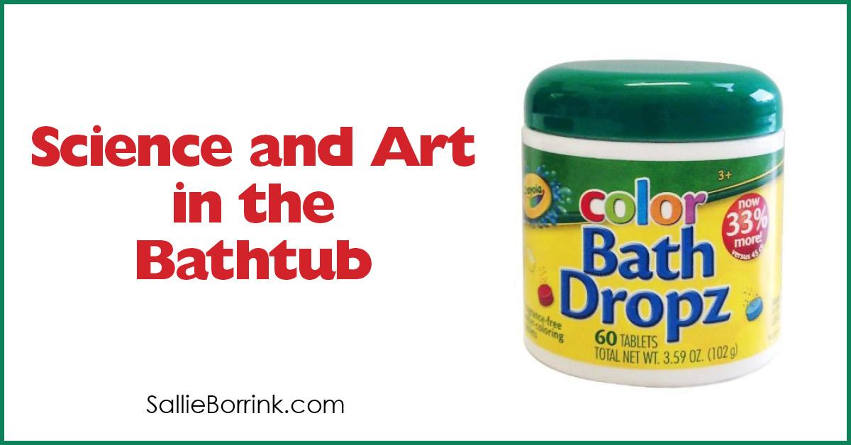 Science and Art in the Bathtub with Crayola Color Bath Dropz 2