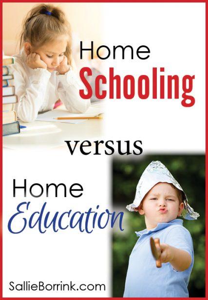 Home Schooling versus Home Education