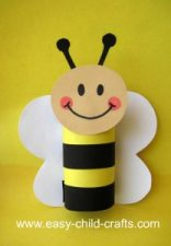 Bumblebee made with toilet paper roll craft