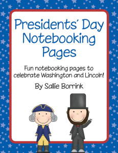 Presidents Day Notebooking Pages