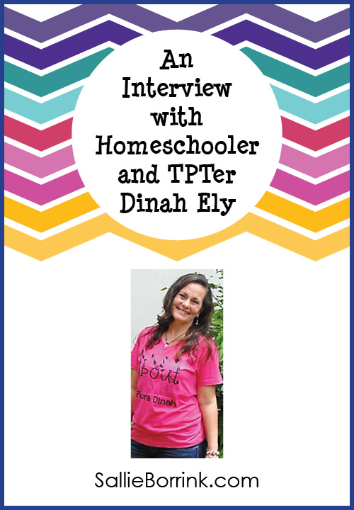 An interview with homeschooler and TPTer Dinah Ely