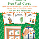 Pumpkin Fun Fact Cards – Unit Extension Activity, Bulletin Boards, Games, Circle Time
