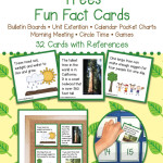 Trees Fun Fact Cards – Unit Extension Activity, Bulletin Boards, Games, Circle Time