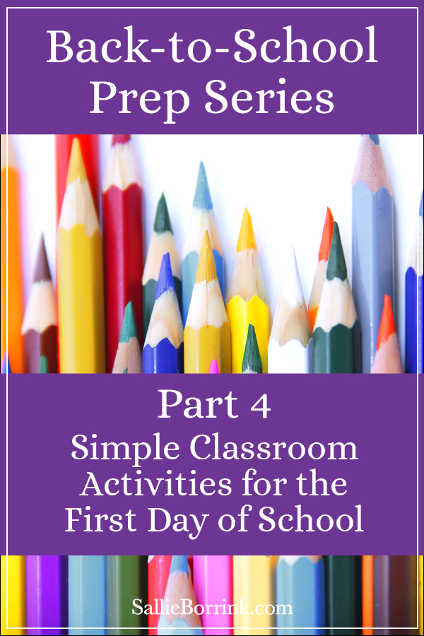 Simple Classroom Activities for the First Day of School