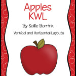 All About Apples KWL – Two Graphic Organizer Charts for Apple Themed Units