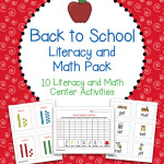 Back to School Literacy and Math Pack – 10 Centers and Activities for Back to School