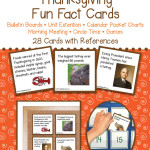 Thanksgiving Fun Fact Cards – Unit Extension Activity, Bulletin Boards, Games, Circle Time