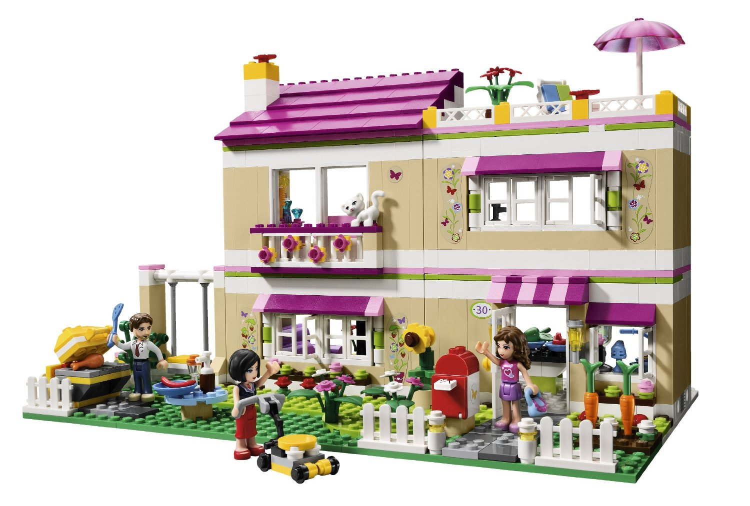 Front of LEGO friends oliva's house