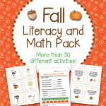 Fall Literacy and Math Pack – 30+ Centers and Activities with Autumn, Pumpkins for First Grade