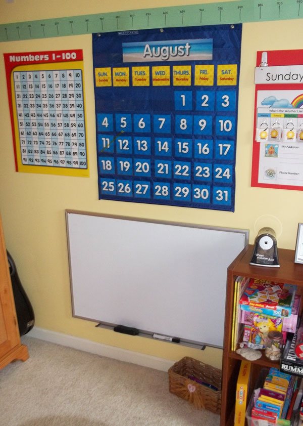 Homeschool Calendar and Whiteboard