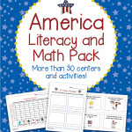 America Literacy and Math Pack – 30+ Centers, Activities for All Patriotic Holidays