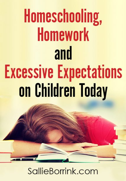 Homeschooling, Homework and Excessive Expectations on Children Today