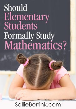 Should elementary students formally study mathematics?