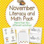 November Literacy and Math Pack – 30+ Centers and Activities including Thanksgiving