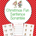 Christmas Fun Sentence Scramble – Differentiated for multiple grades