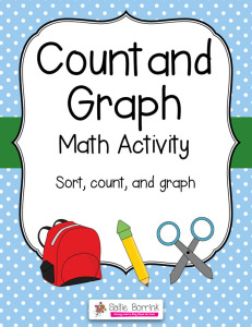 Sort Count and Graph Math Activity Center
