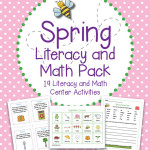 Spring Literacy and Math Pack – 19 Centers and Activities for Reading, Writing, and Math