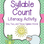 Syllable Sort and Count – Literacy Activity with One, Two and Three Syllables