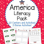 America Literacy Pack 23 Centers and Activities for Patriotic Holidays