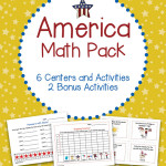 America Math Pack 6 Centers and Activities for Patriotic Holidays